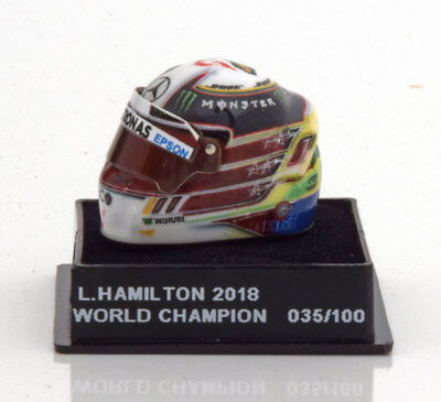 1:12 JF Creations Mercedes helmet World Champion Hamilton 2018