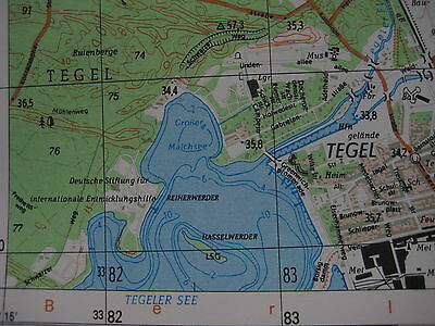 Tegel Berliner Mauer Berlin Wall city map topographische Karte MfS NVA Grenze