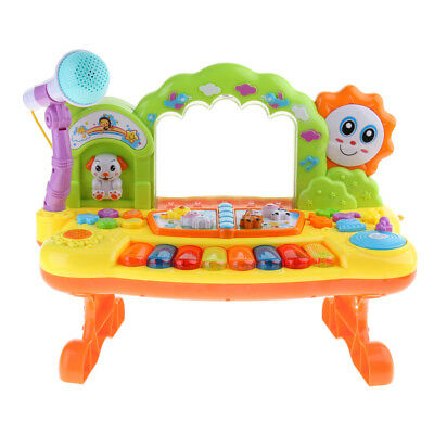 Kid Musical Fountain Piano Toy Electronic Keyboard with Microphone Education