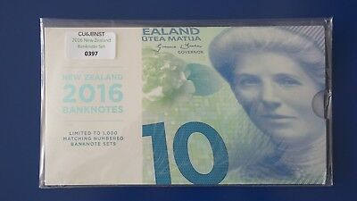 New Zealand 2016 Banknote Set. Unopened in original perforated wrap. Set #0397