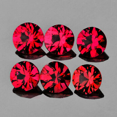 3.50 mm ROUND 6 PIECES MACHINE CUT NATURAL AAA RED MOGOK SPINEL [FLAWLESS-VVS]