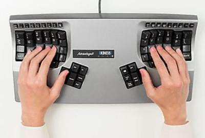 Kinesis Corporation KB605 Advantage2 Keyboard With Painted Silver Gloss Finish.