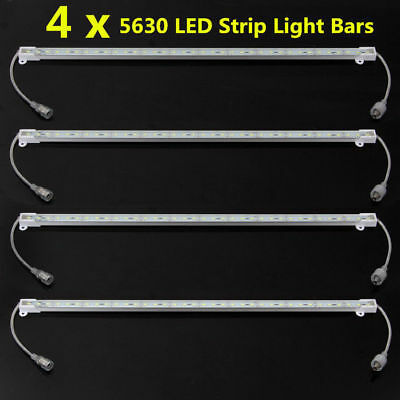 4x 5630 LED Strip Light Bars 12V Cool White Waterproof  Camping Boat Car Caravan