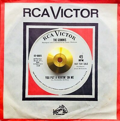 *** THE GEMINIS *Demo** YOU PUT A HURTIN' ON ME **NM *NORTHERN SOUL CLASSIC