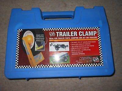 """Sas Wheel Clamp Fits 8,10,12"""" Centrally Dished Wheels With Carry Case"""