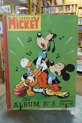 Journal de MICKEY album n°3, n°53 à 78, 1953