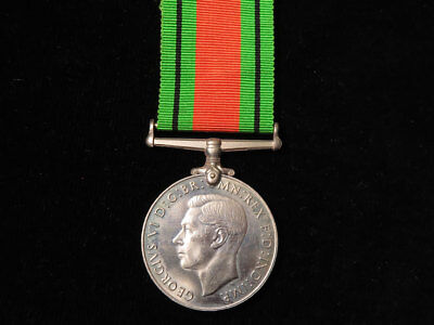 WWII Defence Medal Full-Size Original With Ribbon