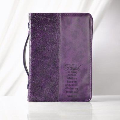 Faith is Being Sure Bible Cover, Purple, Large
