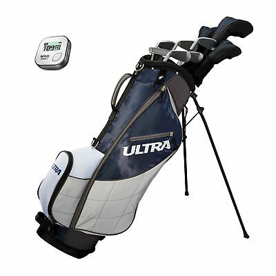 Wilson Ultra Mens 13 Piece Right Handed Complete Golf Club Bag Set & Rangefinder