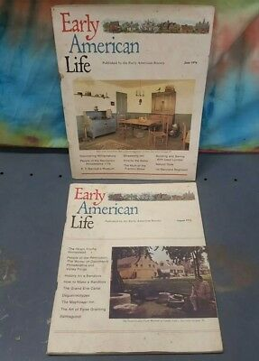 2 Issues of Early American Life Magazine from 1976