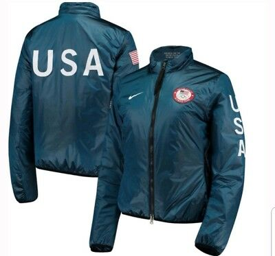 100% authentic 1fb97 24ccf WOMEN'S NIKE LAB TEAM USA OFFICIAL 2018 WINTER OLYMPICS ...