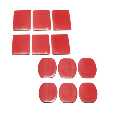 12 Pack Sticker Tape Adhesive Pads Set for Mount Case Action Cam Flat Curved