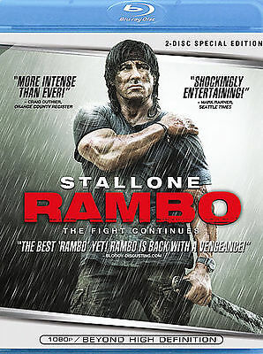 Rambo (Blu-ray Disc, 2008, 2-Disc Set) **Buy 3 For Free Shipping, Msg First**