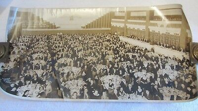 "Vintage B/W Photo 24"" x 12"" Brooklyn Division Jewish National Fund 1958"