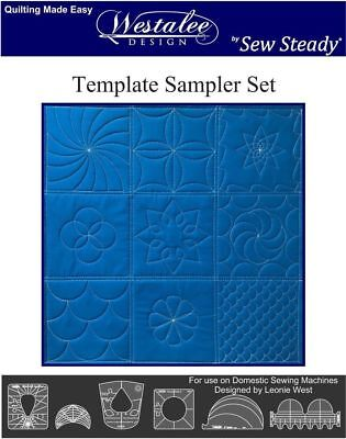 Westalee Design 6 Piece Sampler Templates for Free Motion Quilting