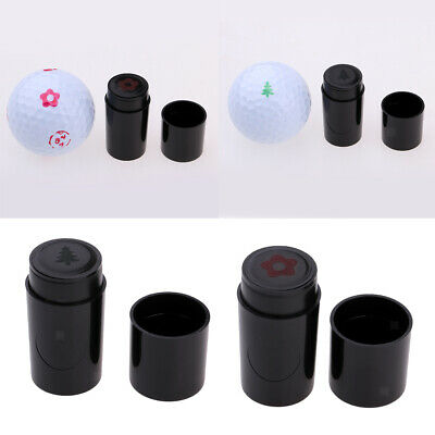 2x Bright Flower/Tree Design Shape Print Golf Ball Stamper Marker for Golfer
