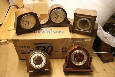 5 OLD MANTLE CLOCKS ALL FOR SPARES/REPAIRS New Year Clearout. lot 6.