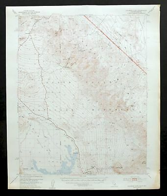 Chloride Cliff California Vintage USGS Topographic Map Death Valley NP 1952