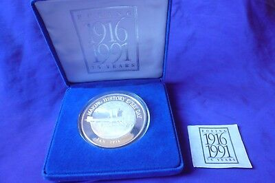 1991 Boeing Airplanes 1916-1991 75 Years 5 Troy Oz .999 Silver Coin Round