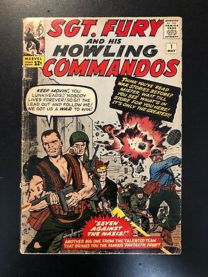 Sgt. Fury #1 (May 1963, Marvel) GD/VG