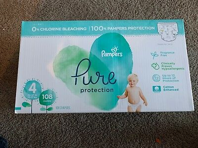 Case of Pampers Pure Protection Diapers - Size 4, 22-37 lbs, 108 ct