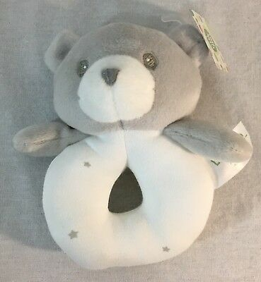 """5/"""" Little Me Collection Blue Ring Rattle Baby Gund"""