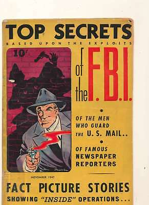 Top Secrets of the FBI #1 in Very Good condition. Street-Smith comics [*re]