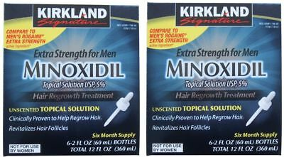 72 MONTHS KIRKLAND MINOXIDIL 5% MENS HAIR LOSS REGROWTH 12 BOXES Exp 10/2020