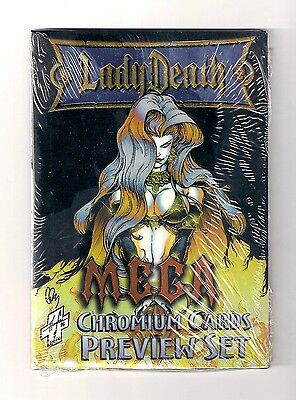 1997 LADY DEATH MEGA CHROMIUM PREVIEW SET (7) includes FRACTAL BONUS card.