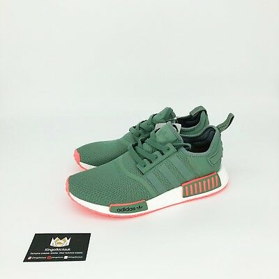 43dd16f48 Adidas Nmd R1 Turbo Green Pink White By9692 Uk 8.5 Us 9 Mens New Boost