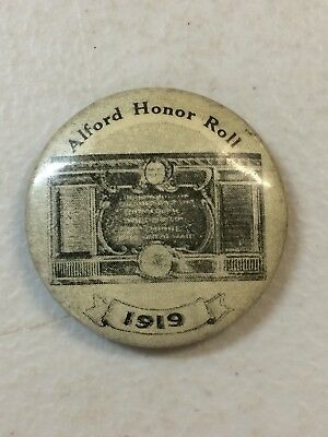 WW1 South Australia Alford Honor Roll 1919 Button Badge Anzac Soldiers Names