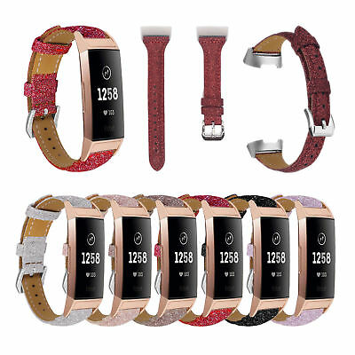 Replacement Leather Band Strap Bracelet Wristband For Fitbit Charge 3 Watch Band