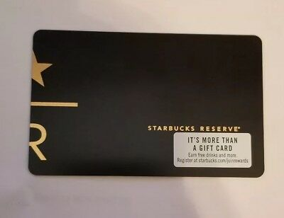 Starbucks Gift Card - Reserve - New and Unloaded. Pin not scratched off.