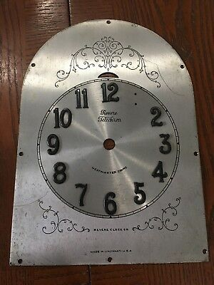 Antique Telechron Herschede REVERE Westminster Canterbury Chime Clock for Parts