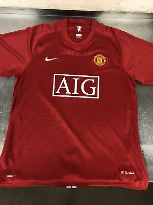 229a1eececd NIKE AIG MANCHESTER United 2007-2008 Home Jersey Preowned Size XL ...