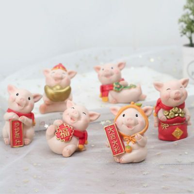 2019 Chinese New Year Pig Year Auspicious Ornament Cartoon Desktop Decor Gifts