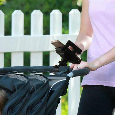 Baby Stroller Phone Holder Accessory or Bike Handle Bicycle Cell Phone Mount 6L