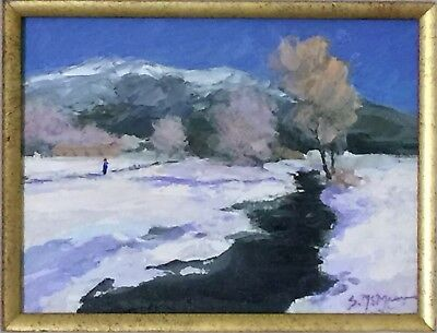 Original Oil Painting Landscape Signed Colorado Winter Scene