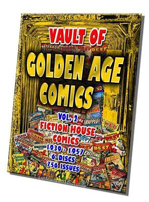 15% off! Golden Age Comics Fiction House 1940-55 756 issues - 6 DVD-ROM  boxed