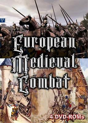 15% off! European Medieval Combat- 4 DVD-ROMs Boxed