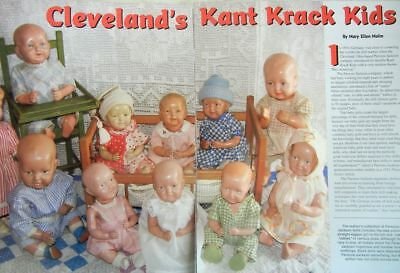 12p History Article + Pics - Antique Kant Krack Dolls - Parson Jackson Biskolin