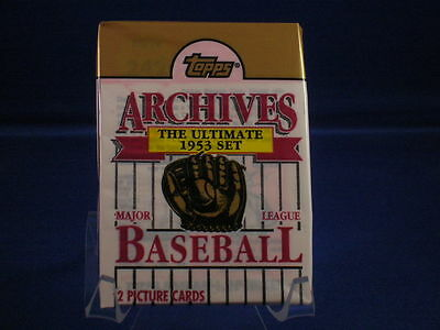 1991 Topps Archives Baseball Unopened Pack   The Ultimate 1953 Set