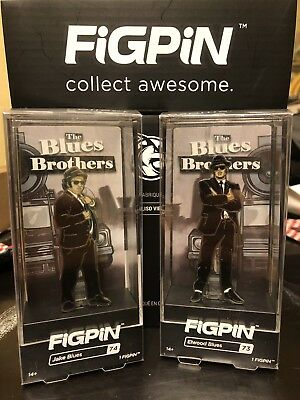 BLUES BROTHERS FIGPIN SET 73 & 74. House of Blues Exclusive. Each Pin is 1/432