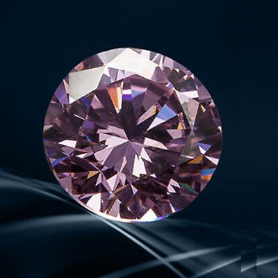 Loose Moissanite 1 ct to 2 Carat Pink Round Cut VVS, Best for Pendant / earring
