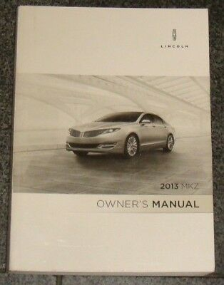 lincoln mkz owners manual 2013