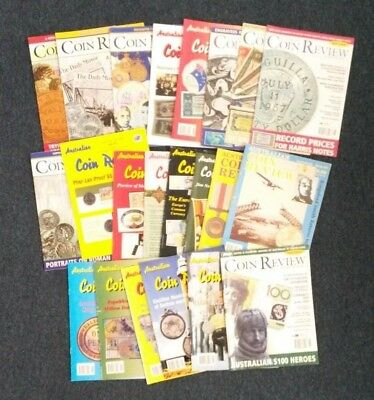 Australian Coin Review Magazines x 22 1997, 1999 - 2001 Coin & Banknote Books