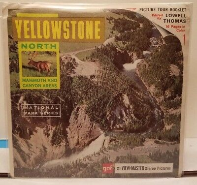 YELLOWSTONE North - View Master Complete 3 Reel Packet #A-309