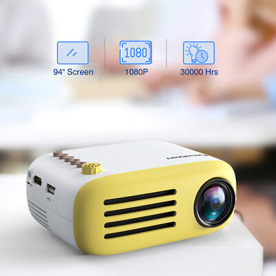 Excelvan YG200 Multimedia Projector TF card AV USB HDMI Portable Home Theater