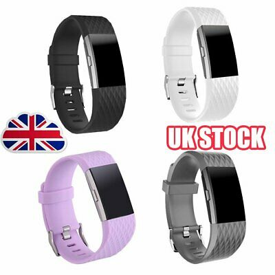 FOR Fitbit CHARGE 2 Replacement Silicone Rubber Bands Strap Wristband Bracelet Y