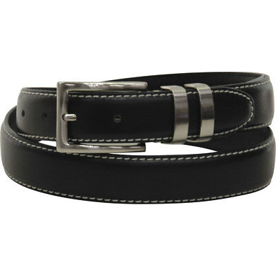 Florsheim Men's Metal Keeper Genuine Leather Belt